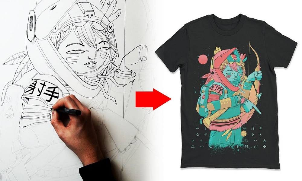 How designing for T-shirts can help you make passive income